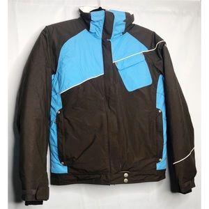 Columbia 14/16 Winter Ski Jacket Brown Blue Coat